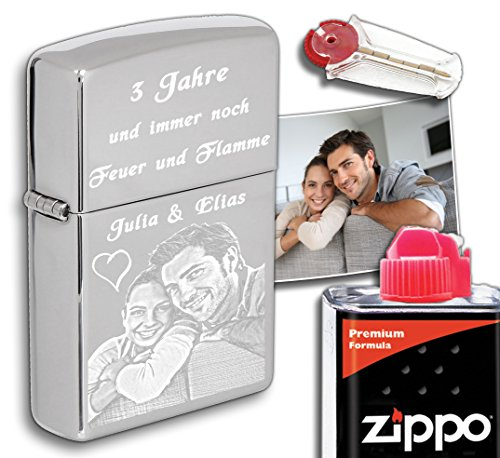 Original Zippo mit deinem Foto als Gravur