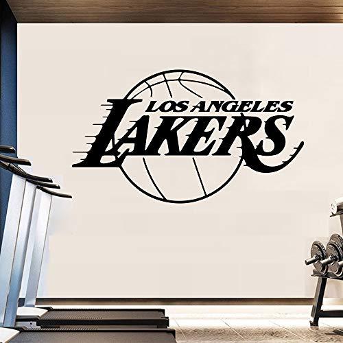 Basketball Team Design Wandaufkleber für Wohnkultur Wohnzimmer Dekoration Jungen Schlafzimmer Wandtattoo Aufkleber Los Angeles Lakers LA 58X93CM