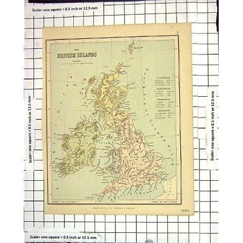 Isole Britanniche Orkney Shetland Irlanda Scozia Inghilterra della Mappa