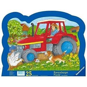 Ravensburger Tractor Ride, 25 Piezas de Rompecabezas Contorno Marco