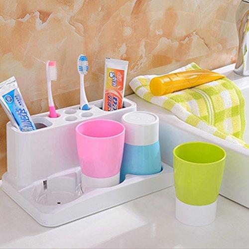 ocathnon-zahnbrste-und-zahnpasta-spender-splen-cup-halter-familie-set-fr-badezimmer-organisieren-wei