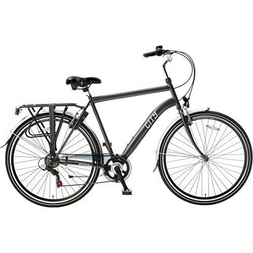 517XNlO0hGL. SS500  - POPAL City 6 Speed 28 Inch 49 cm Men 6SP Rim Brakes Grey