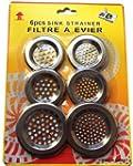 parquet de 6 grilles filtre � �vier l...