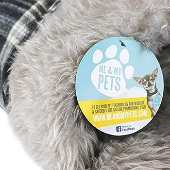 Me & My Pets Lit Pochette d'Animal a Carreaux Gris