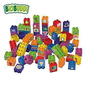 BIOBUDDI Learning to Build 60 pcs 60pieza(s) - Bloques de construcción de Juguete, 60 Pieza(s), Plaza, Imagen, Preescolar, Niño/niña