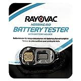 Rayovac Batterietester für Hörgerätebatterien mit Batterieaufbewahrungsbox