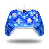 BeneGlow® LED Afterglow Dual Vibration Wired Gamepad Controller für Microsoft Xbox One / PC (ohne Audio Jack)
