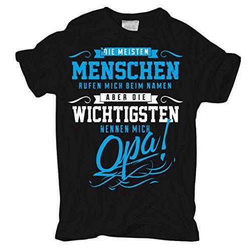 Opa T-shirt (Männer und Herren T-Shirt Die wichtigsten nennen Mich Opa)