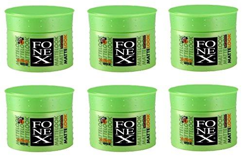 6x FONEX Matte-Look Haarwachs 100g ✓ Extremer Halt ✓ Kein Verkleben | Professional Hair-Wax Für Matte-Look-Effekt | Wachs-Gel, Hair-Styling Für Männer Mit Surfer Style | Haar-Wax Für Starken Halt Widerspenstiger Haare