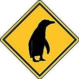 U24 Aufkleber Vorsicht Pinguin Autoaufkleber Sticker