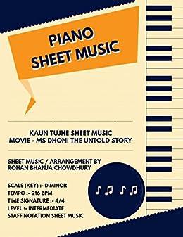 Kaun Tujhe Staff Notation Sheet Music : Bollywood Songs On