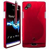 Sony Ericsson Xperia Arc Étui HCN PHONE S-Line TPU Gel Silicone Coque souple pour Sony Ericsson Xperia Arc + stylet - ROUGE