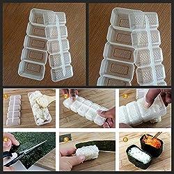clifcragrocl Stampi per Dolci 5 Grids Sushi Maker Nori Rice Rotolo con Sfera Stampo DIY Onigiri Utensile da Cucina Bento