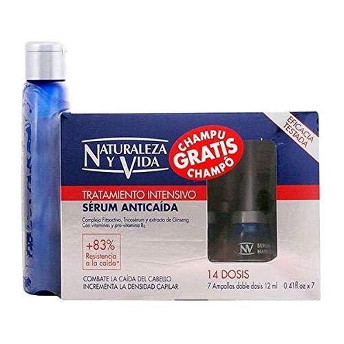 Naturaleza y Vida Serum Anticaida - Sérum anticaída del cabello, 7 frascos con 12 ml, doble dosis (2 x 6 ml)