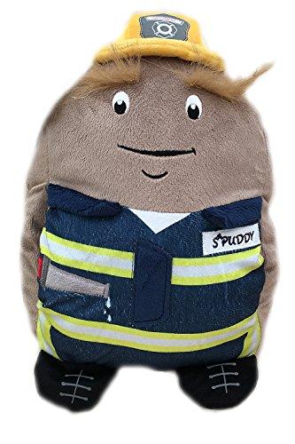Spuddy der Feuerwehrmann, mit Taschen für TV-Fernbedienung, Bier, Snacks und mehr, für das Sofa, das Auto, Stubenhocker, Geschenk für Jungen und Männer
