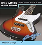 Set De 4 Johnny Brook G D A E De Basse Guitare Acier Strings Medium de calibre