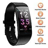 Fitness Tracker, Wasserdicht IP68 Fitness Armband mit Pulsmesser Blutdruck, 1.14 Zoll Farbbildschirm Smartwatch Aktivitätstracker Smart Watch Fitness Uhr für Kinder, Frauen und Männer...
