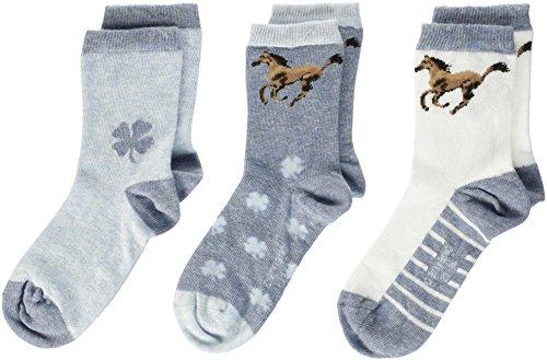 Camano Mädchen Children Fashion 3p Socken, Grau (Stone Melange 99), 35/38 (3er Pack)