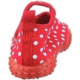 Playshoes Aquaschuhe, Badeschuhe Punkte mit höchstem UV-Schutz nach Standard 801 174776, Mädchen Aqua Schuhe, Rot (original 900), EU 24/25 - 2
