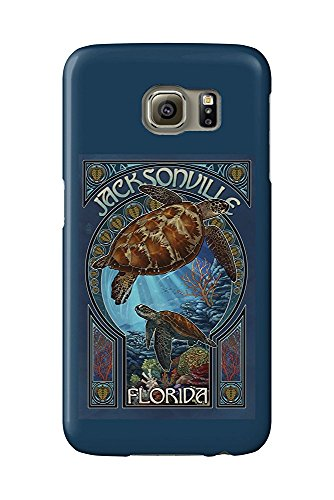 Jacksonville, Florida - Sea Turtle Art Nouveau (Galaxy S6 Cell Phone Case, Slim Barely There)