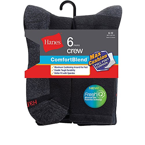 hanes-comfortblend-hombre-6-pack-max-cojin-crew-calcetines