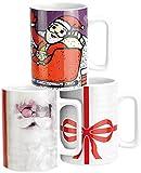 infactory Tasse Weihnachten: Weihnachtstassen mit Sound 3er-Set (Teetasse für Weihnachten)
