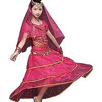ZYLL Trajes de Baile de Indios para niños Danza del Vientre Ejercicios de Desgaste Trajes de