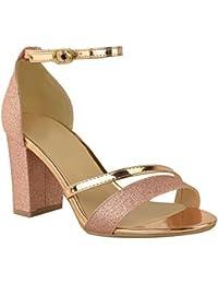 Amazon Tacon Zapatos es Medio Mujer Fiesta 2040904031 aIafqrw5