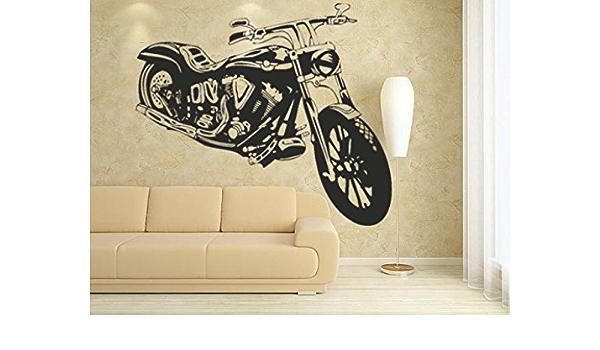 Motorbike Wall Art Sticker Boy Bedroom Bike 3 Wall Art Decal Bedroom Wall Art Graphics Black Amazon De Diy Tools