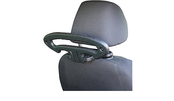 MovingParts Kleiderhalter Schwarz Reisebügel Autokleiderbügel Auto Kopfstütze