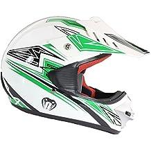 Casco protector para niños - Para MX / ATV / BMX / motocross / todoterreno - Verde - L (51-52 cm)