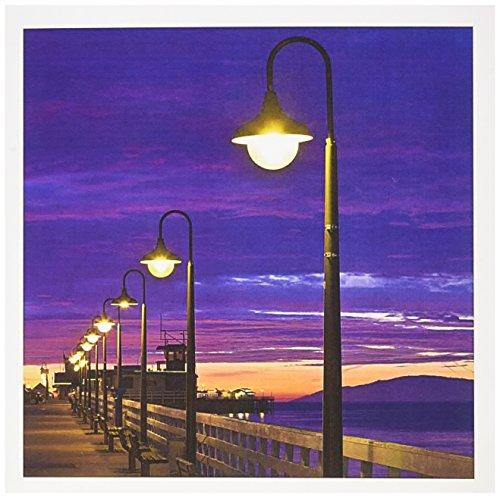 Santa 2 Stück Set (3dRose Gc_88716_2 Grußkarten, Motiv Kalifornien, Santa Cruz, Municial Wharf - US05 WBI1228 - Walter Bibikow, 15,2 x 15,2 cm, 12 Stück)