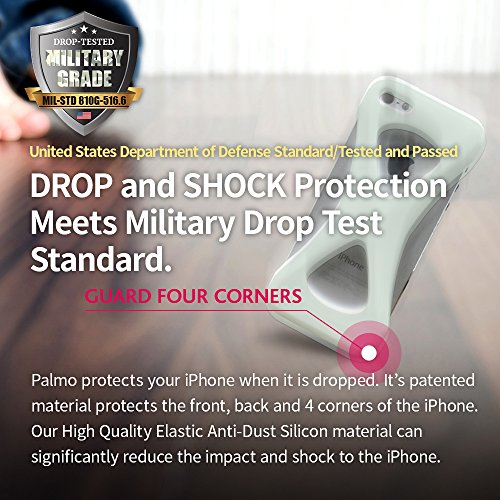 Custodia Case Palmo per iPhone 6s/6 (GiD - Glow in the Dark) - Vincitrice del Premio Red Dot: Product Design 2017 e del GOOD DESIGN AWARD 2015 – Test di caduta da parte delle forze armate USA – Contro GiD