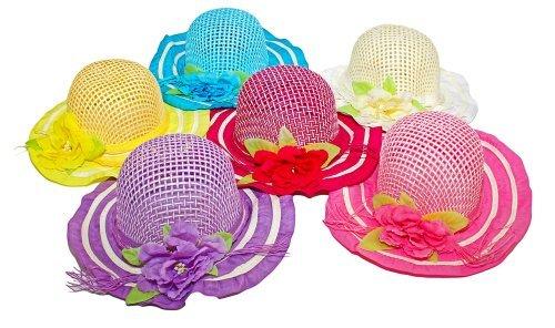 6Stück Schönheit Kollektionen Mädchen Blumen Tea Party Kostüm Sonnenhüte (Multicolor), HT500