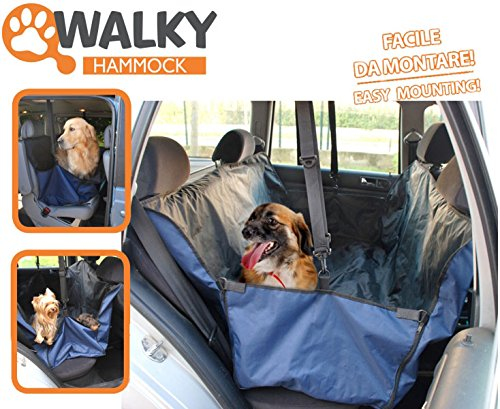 Camon Walky Pet Hammock - Coprisedile Auto, Telo Protezione Sedile Da Sporco Peli Di Animale Cane Gatto