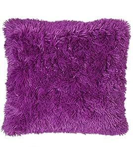 Cuddly Aubergine Cushion Cover , 45x 45 cm Luxury