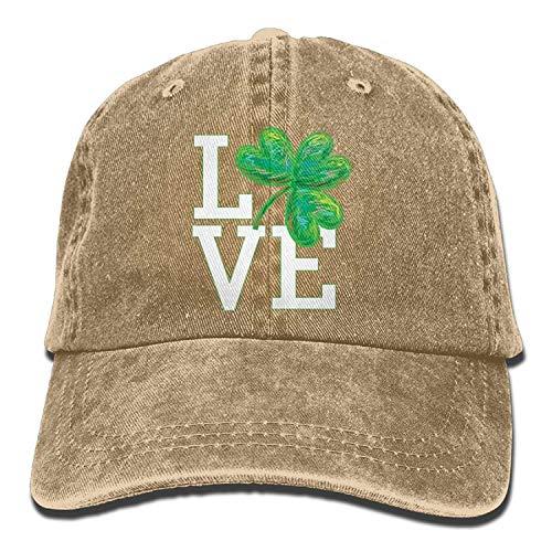 Hipiyoled Love Irish Denim Hat Adjustable Womens Cute Baseball Hüte 5Z920 - Denim-baseball-hüte Womens