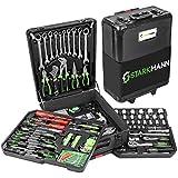 STARKMANN Strong Man Blackline 225 Pieces Premium In Lockable Aluminium Tool Box Trolley (DIY & Tools)