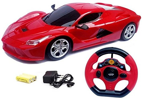 Johnnie Boy Ferrari Style Rechargable Remote Control Toy for Kids (Red)