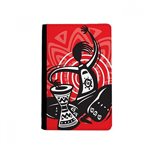 beatChong Feiern Tambourine Silhouette Mexiko mexikanischen Pass-Halter Travel Wallet Abdeckungs-Fall Karten-Geldbeutel