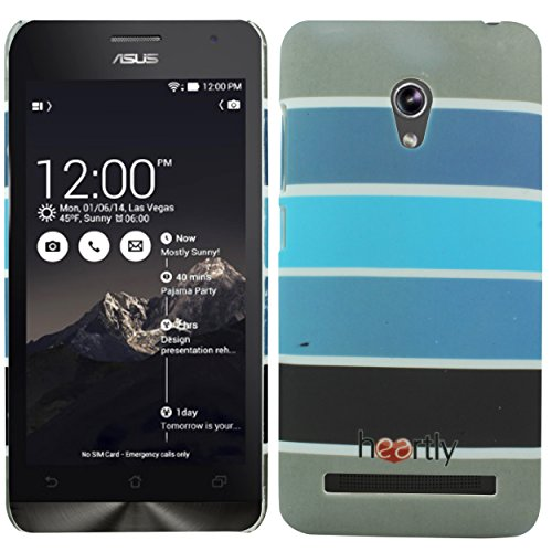 Heartly Strip Style Retro Color Armor Hybrid Hard Bumper Back Case Cover For Asus Zenfone 5 Lite A502CG - Navy Blue  available at amazon for Rs.249