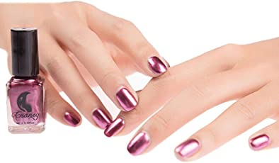 WILLTOO Mirror Nail Polish Plating Paste Metal Color Stainless Steel Size:5.8cm*5.8cm Purple