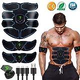 EGEYI Electroestimulador Muscular Abdominales Masajeador Eléctrico Cinturón,...