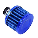 Botreelife 12 MM Mini Auto Luftfilter Cold Air Cleaner Intake Auto Styling Zubehör (Blau)