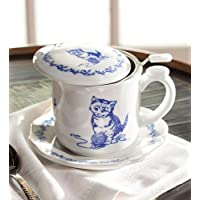 Pretty Kitty Covered Teacup And Saucer by Wind & Weather® - Kitty Teacup
