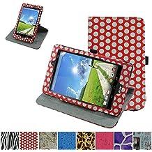 Acer Iconia One 8 B1-810 Rotación Funda,Mama Mouth 360° Rotación PU Cuero Con Soporte Funda Caso Case para Acer Iconia One 8 B1-810 Tablet,diseño de lunares