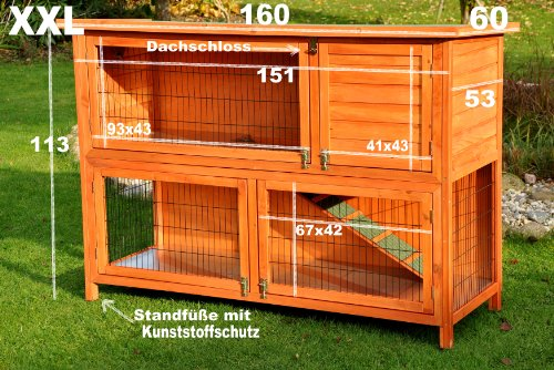 Kaninchenstall XXL von Nanook 160 x 60 x 113 cm - 4
