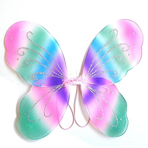 Brightup Kinder Mädchen Engel Kleid Schmetterling Flügel Baby Cosplay Party (Schmetterling Baby Kostüm Lila)