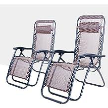 (BTM) Zero Gravity-Sedia a sdraio, con poggiatesta regolabile e pieghevole da campeggio, giardino, Patio, sedia Relax sedia reclinabile per mobili da esterno