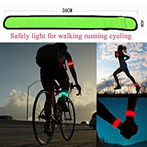 Pet Leso® LED Slap Bracelet, Bracelet Glow LED Brassard Bracelet De Sécurité Pour La Course/Jogging/Escalade